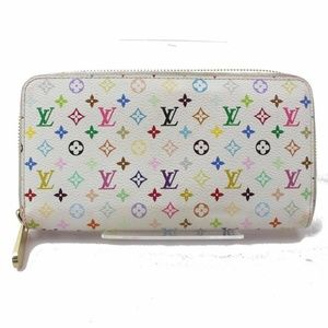 Louis Vuitton  Blanc Long Zippy Wallet Zip Around